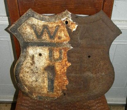 $OLD West Virginia US Route 19 Fully Embossed Highway Shield Sign