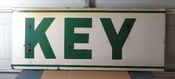$OLD Key Porcelain Neon Sign