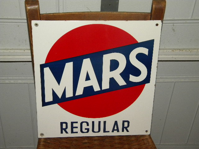 $OLD Mars Regular Porcelain Pump Sign