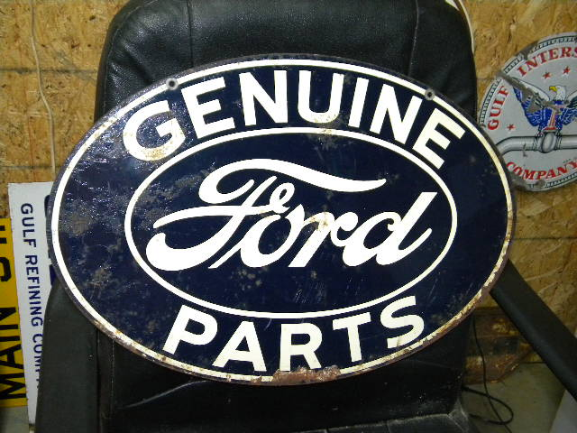 $OLD Ford Genuine Parts DST Tin Sign