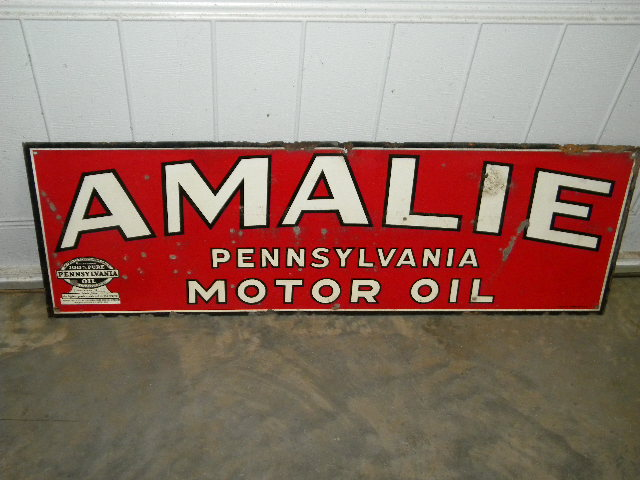 $OLD Amalie Motor Oils SST Tin Sign