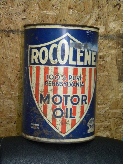 $OLD Rocolene 5 Quart Motor Oil Can