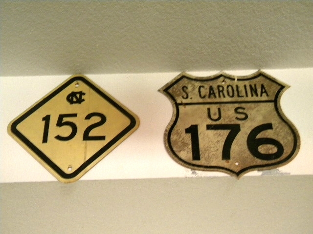 Carolina Signs...176 and NC State Marker