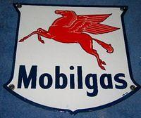 $OLD Mobilgas Porcelain Pump Sign