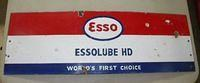 $OLD Old Single Sided Porcelain EssoLube Sign