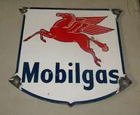 $OLD Mobilgas Porcelain Gas Pump Sign