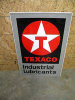 $OLD Texaco Industrial Lubricants Tin Sign 1980s