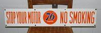 $OLD Union 76 No Smoking Double Sided Porcelain Sign