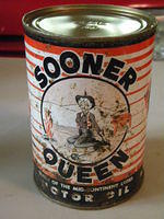 $OLD Rare Sooner Queen Metal Quart Can
