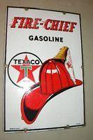$OLD Texaco Fire Chief Sign