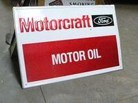 $OLD Motorcraft Motor Oil tin Sign
