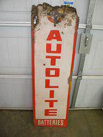 $OLD Autolite Embossed Tin Sign