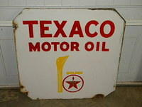 $OLD Double Sided Texaco Curb Sign