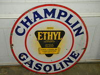 $OLD Champlin Double Sided Porcelain Sign