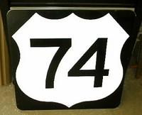 $OLD Original US 74 Route Sign from NC TN