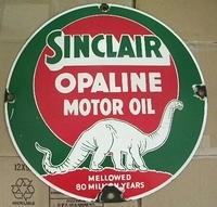 Sinclair Opaline 16 Inch Single Sided Porcelain Sign