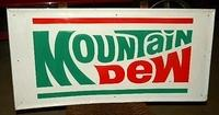 $OLD Original Mountain Dew Sign 1976