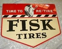 SOLD: Fisk Tires Double Sided Tin Sign