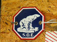 $OLD SOE Standard Zerolene Porcelain Sign