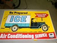 $OLD Chevrolet Original Dealer Poster Sign w/ ICE Truck Graphics