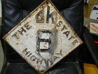 $OLD Oklahoma Fully Embossed State Highway 8 Sign ORIGINAL