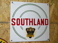 $OLD Southland Ethyl PPP Porcelain Pump Plate Sign