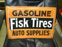 $OLD Fisk SST Gasoline Tires Auto Supplies Sign