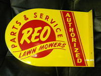 $OLD Reo Lawn Mower Parts & Service DST Flange Sign