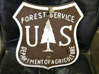$OLD US Forest Service Wooden Sign Shield