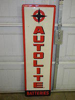 $OLD Autolite Battery Sign