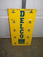 $OLD Delco Clip Board Tin Sign Dry Charge Battery