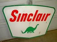 $OLD Sinclair 60x42 DSP Porcelain Sign w/ Dino