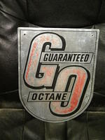 $OLD Guaranteed GO Octane Pump Plate Sign