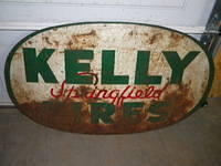 $OLD Kelly Springfield Tires DST Tin Sign