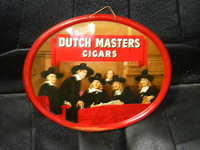 $OLD Dutch Masters Cigars Embossed Tin Litho Sign